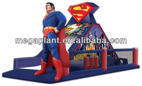 commercial grade spiderman inflatable slide