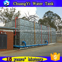 Alibaba insurance and cheap price elevated galvanized water tank/supporting tower water tank in high space