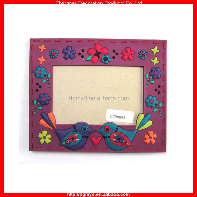 custom design 3D rubber picture frame with paper hard back ( kms-2024)