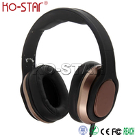 Hot selling noise cancelling and Zinc alloy stretch arms dj leather headphones