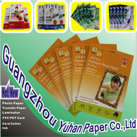 Hot selling 300g A4 Double Side High Glossy Inkjet Photo Paper(cast coated) with best price