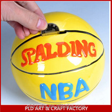 High Quality money box wholesales/Basketball Shape Money Saving Box