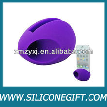 egg shape silicone loud speaker for phones/silicone amplifier