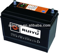 Automobiles Used Car Batteries in RUIYU and OEM brand , 40AH , 60AH, 80AH, 90AH, 100AH 120ah 150ah 180ah 200ah etc