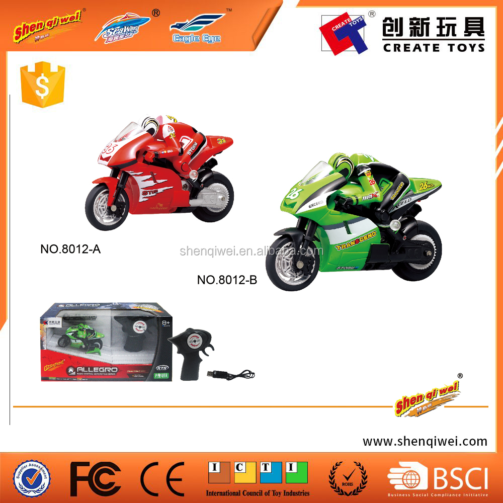 Allegro radio control motorcycle series 8012 toy motorcycle 2.4g 4ch rc motorbike with lights battery charger toy motorcycle