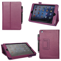 Factory Price Unlocked Premium PU Material Tablet Case For ipad mini With Pen Holder