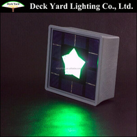 Waterproof Square Brick Ground Solar Led Lights Outdoor Led Brick Lights