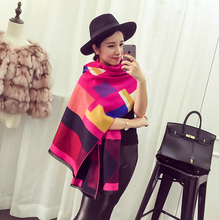 Yhao Custom Design Low Moq Large Women Soft Cashmere Wool Wraps Shawls Stole Scarf