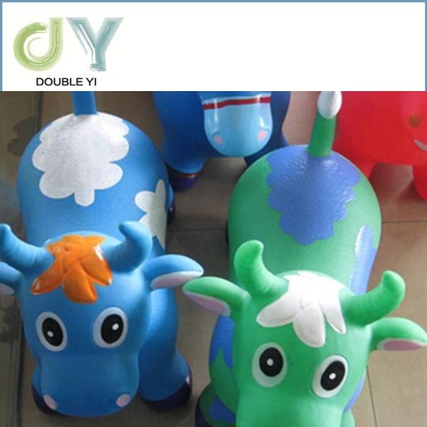 Wholesale Plastic Jumping Horse, CZU Inflatable Kids Jumping Animal Toy