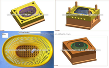 hot sell plastic drain basket mold/plastic injection rice fruit vegetable wash basket mould