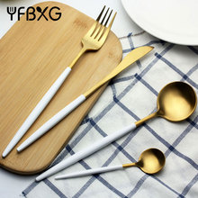 PVD gold coating high quality stainless cutlery corelle dinnerware sets christmas cutlery set