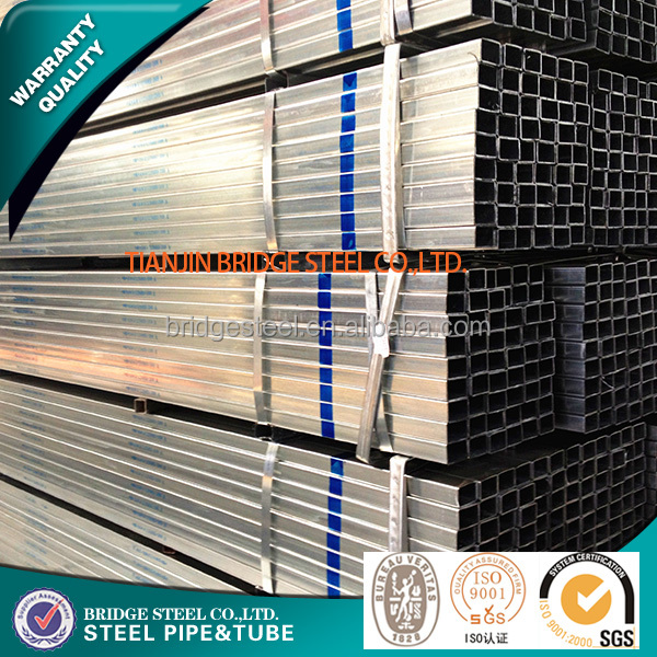 Trade assured Pre galvanized surface treatment rectangular tubing good quality and best price