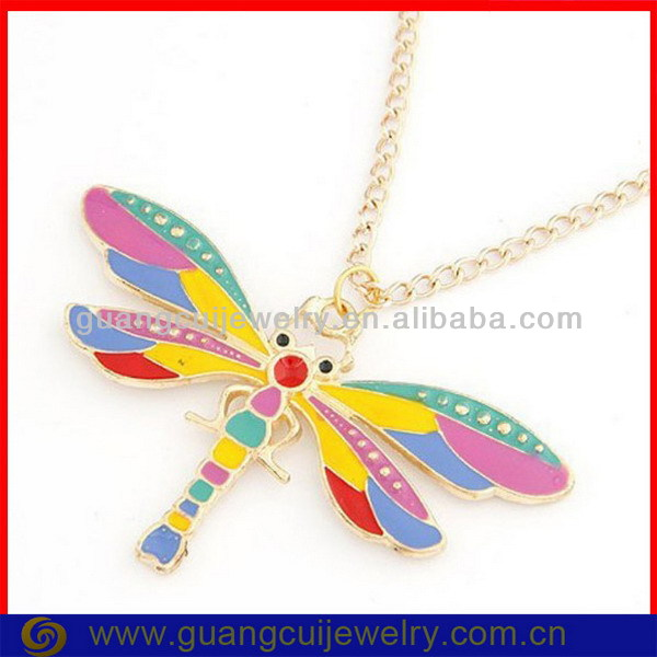 fashion wholesale alloy dragonfly necklace