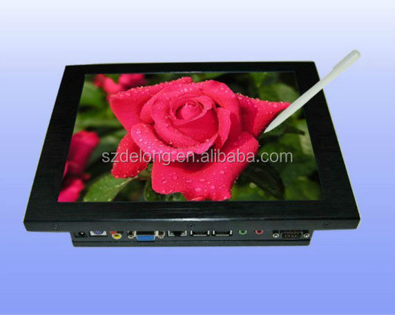 "Hot Sale Mini 10.4"" Lcd Touch Panel All In One Fanless PC WIFI Built-in CPU:Intel Atom N270 1.6GHz"
