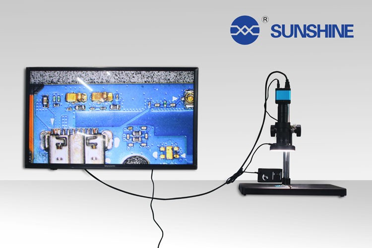 10 Inch Lcd Screen Digital Pcb Inspection Scanning Electron Hdmi Microscope With Led Light For Sale