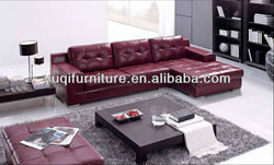 Modern german Home / Office Sofa with Chiase Longue & Ottoman imported genuine leather sofa 8002