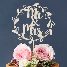 Romantic Wedding Party Wood Cake Topper For Party Cake Decoration