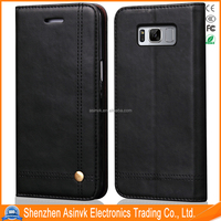 2017 New Arrival Product High Quality PU Leather case for Galaxy S8 Plus