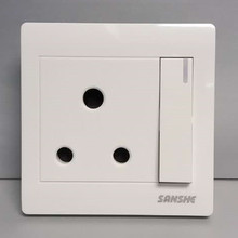 S4 15A round pin wall socket new design South Afica colour electrical switch socket