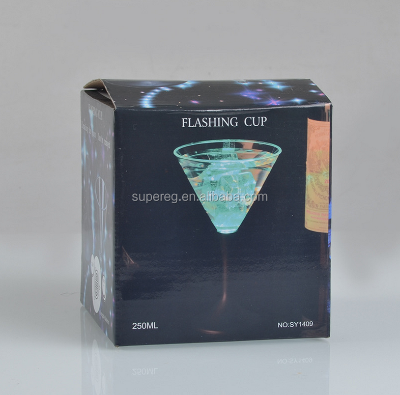 Flashing Cup glass plastic colorful Cup flash LED luminous cup