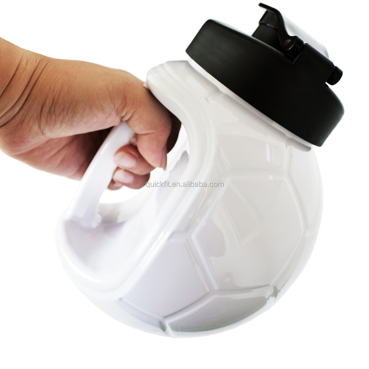 QuiFit World Cup Bottle 1.3L/45OZ Training Drinking Water Jug Hydrate Container Lightweight with Easy Carry Strap