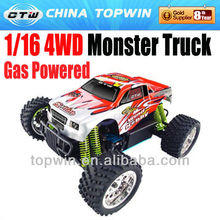 1 16th scale gas rc cars Scale R/C Gas Powered 94286 monster dump truck