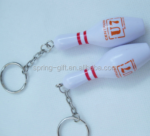 bowling ball promotion gift Bowling pin keychain