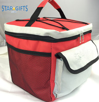 Wholesale Gift Away Tall Zippered School Kids Lunch Cooler Bag With Bottle Holder