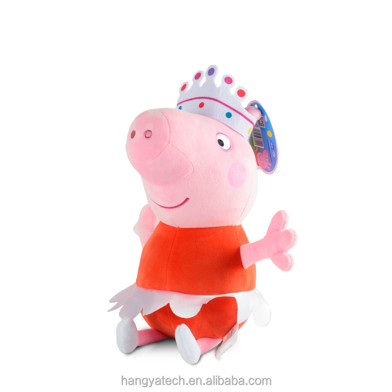 Wholesale Kids fond cute Cartoon Pig China Exclusive Beanie Baby Peppa Plush Doll Toys