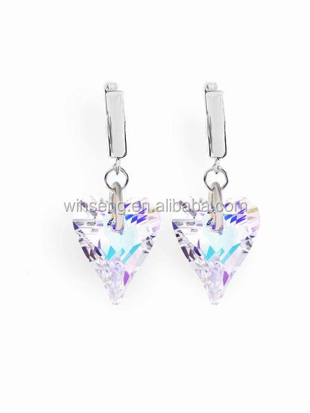 New Fashion 925 sterling silver Wild Heart Earrings with Crystals from SWAROVSKI