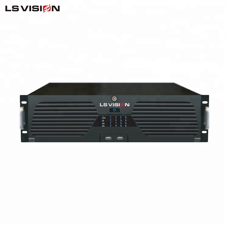LSVISION H.265 Hi3536 Onvif P2P IP Video Surveillance 64CH Network Video Recorder 64 <strong>Channel</strong> NVR support <strong>16</strong> Sata 1 ESATA