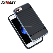 Haissy new arrival Lattice pattern TPU+PC Combo phone case mobile back cover for iphone 7