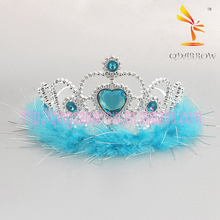 Plastic colored Rhinestone Blue Tiaras and Crowns