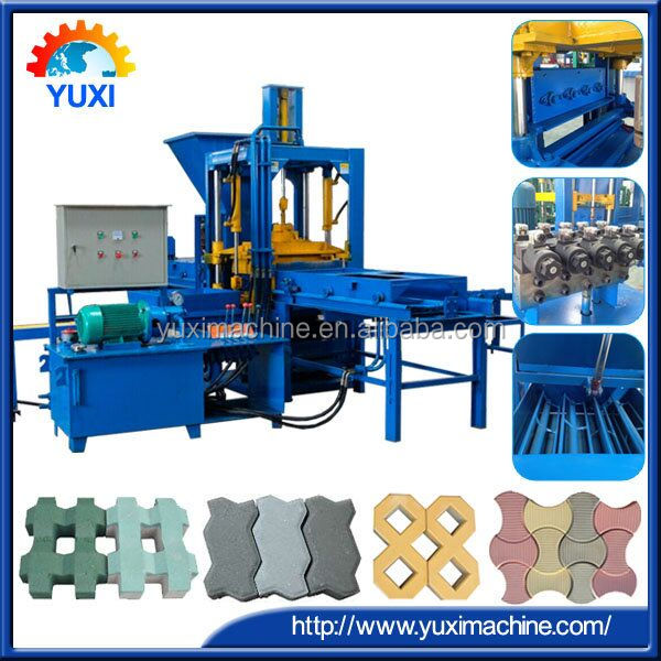 Paving blocks automatic manufacturing/interlocking concrete block making machine/cement eco bricks machinery production line