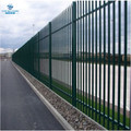 2.0m high PPC green W section security palisade fencing