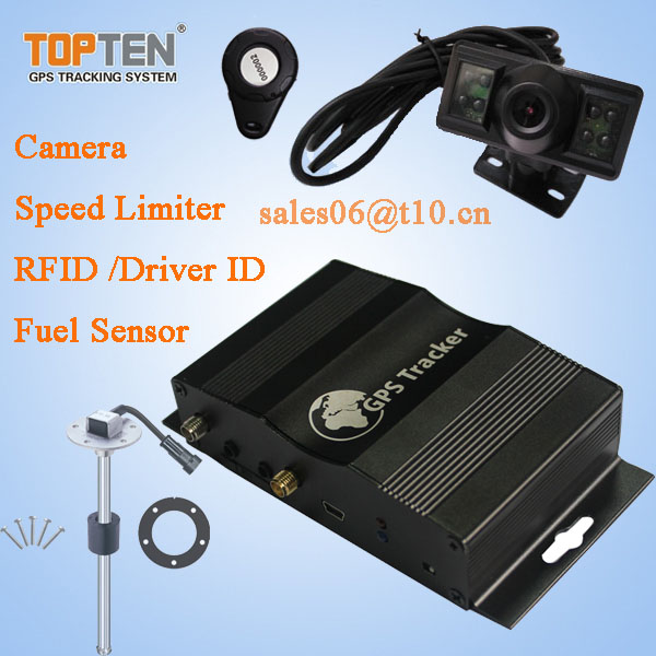 Fire truck gps tracker with temperature detecting and Camera and RFID