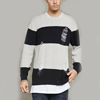 mens latest knitted sweater design wholesale custom pullover sweater for men