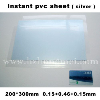 For ALibaba, Hot Selling Silver Pvc sheet Hm080301