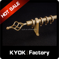 KYOK Antique style electroplating iron curtain finials,contracted design curtain finials for 22/25/28mm curtain poles