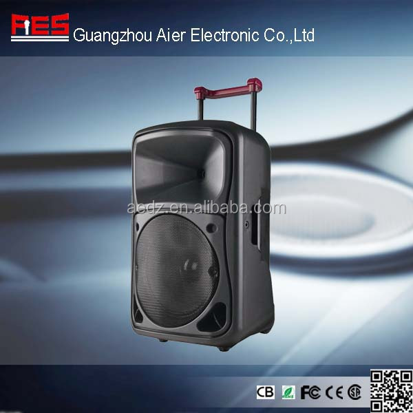 Aier 15 inch big bass speakers wireless portable pa system outdoor pa system