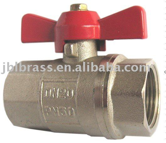 brass mini ball valve with butterfly handle,female valve