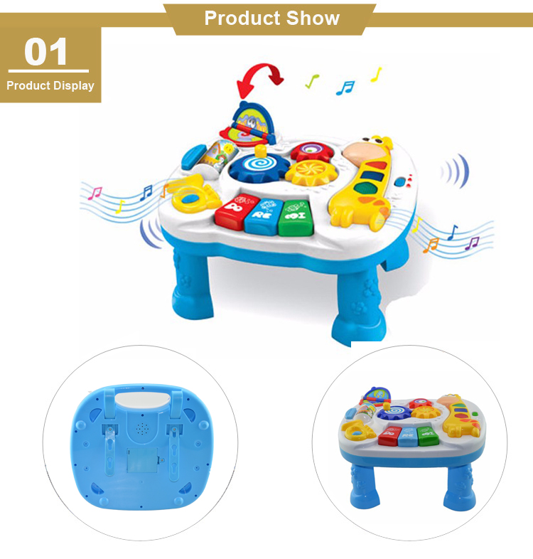 2018 Basic Skill Development Music Learning Activity Table Toy Kids Educational Baby Toy