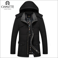 China Factory Wholesale High Quality man down jacket Russian style Fashion Windproof Softshell men winter coat