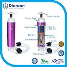 Diercon outdoor water micro-filter expedition water filter cleanable ceramic filter mini water purifier(KP02)