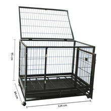 luxurious square tube heavy duty dog cage pet house for sale with wheels