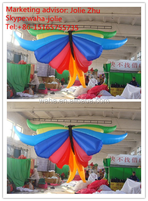 inflatable butterfly color matching colorful design new 2016 design hanging