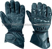 Black Motorbike Well Vantilated Gloves