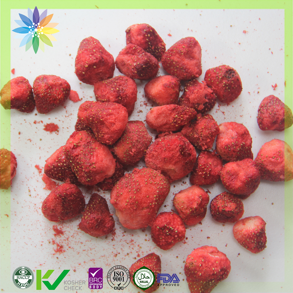 hot sale fd fruits freeze dried strawberry whole for healthy snacks