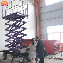 Mobile vertical hydraulic scissor type lifter