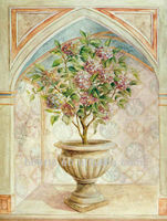Pure Hand-painted Palace Potted Flower Tree Oil Paitings
